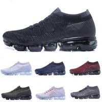 Wholesale Sale Products - High quality New Running Shoes Cushion 2018 Men Women Vapormax Product Hot Sale Breathable Sports Shoes Sneaker Eur 36-45 Free shipping