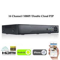 dvr kaydediciler toptan satış-Yeni CCTV 16 Kanal XVR Video Kaydedici Tüm HD 1080 P 5-in-1 16 CH Süper DVR Kayıt desteği AHD / Analog / Onvif IP / TVI / CVI Kamera