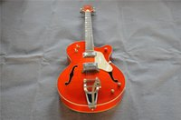 Wholesale hollow body guitar l5 online - Free delivery of beautiful orange in hollow jazz guitar L5 Electric guitar Customizable Welcome to visit