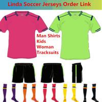 jerseys de fútbol para mujeres al por mayor-Camiseta de fútbol de Madrid camisetas de futbol Camisetas de fútbol Chándales de mujer de Ronaldo Copa Mundial de 2018 Clientes de camiseta de fútbol de Linda Linda Enlace de pedido