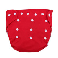 diaper cover panties wholesale UK - Reusable Infant Diapers Grid Soft Covers Washable Size Adjustable Baby Cotton Diapers Training Pants Panties Nappy Changing