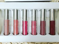 Wholesale lipstick matte sale stock resale online - In stock makeup Vacation Edition holiday birthday i want it all Send me more Nudes set matte lipstick lip gloss Hot Sale DHL FREE