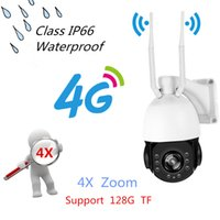Wholesale dome outdoor zoom - 3G 4G SIM Card IP Camera Wi-fi Outdoor Security 4X Zoom Audio High Speed Dome Camera 1.3MP 2.0MP HD Pixel PTZ Night IR CCTV Cam