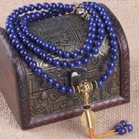 pulseras hechas de china al por mayor-Chino Hecho A Mano de Alta Calidad Emperador Lapislázuli 108 Mala Ojos Internos Cadena de la Mano Tibetano Oración Curación Pulsera de Yoga