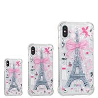iphone cover tour eiffel achat en gros de-Pour iPhone 8 Plus iPhone X Coque Arrière Coque TPU Coque Protection Téléphone pour Samsung S8 Tour Eiffel