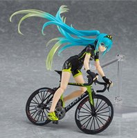 Wholesale miku racing - Racing Girl Hatsune Miku Motorcycle Figma 15CM PVC Anime Action Figures Figura Collection Boy Kid Toys Juguetes Brinquedos