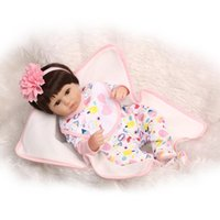 Wholesale handmade rag dolls for sale - Group buy 2016 New cm Silicone Bebe Reborn Dolls Handmade Realistic Baby Doll Inch Silicone Reborn Toys for Kids Juguetes Brinquedos