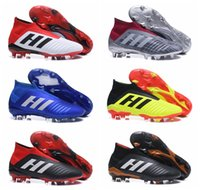 acelerador al por mayor-Botas de fútbol juvenil de tobillo alto para hombre Predator 18 + x Pogba FG Accelerator DB Zapatos de fútbol para niños Botines de fútbol PureControl Purechaos para mujer