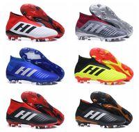 foot haute cheville achat en gros de-Bottes de football pour hommes, cheville haute, Predator 18 + x Pogba FG Accelerator DB, chaussures de football pour enfants, chaussures de foot PureControl Purechaos pour femmes