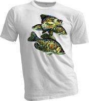 señuelos personalizados al por mayor-Camiseta para hombre Camiseta de pesca Heddon Lures Crappie Fish Nuevo Unisex hecho a mano Camiseta deportiva para hombre Creativo de manga corta de algodón personalizado