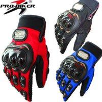 хоккейные перчатки оптовых-Про-байкер рыцарь палец перчатки гоночные мотоцикл кросс-кантри полный варежки воздушный хоккей защита