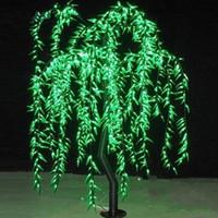 ingrosso alberi salice-Liberi la nave LED Willow Tree Light 960 pz LED Lampadine 1.8 M / 6FT Colore Verde Antipioggia all'aperto Vacanze Di Natale casa giardino deco