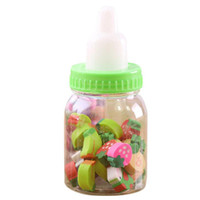 Wholesale kids fruit erasers for sale - Group buy Mini Feeding Bottle Cute Fruits Rubber Erasers Gift for Children Kids Students