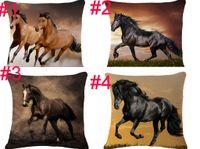 decoração de animais 3d venda por atacado-2018 Moda estilo Europeu home decor almofadas almofadas 3D animais cavalo impresso fundas decorativa lance fronha acessórios de moda