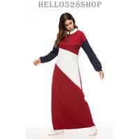 jalabiya elbiseleri toptan satış-Moda Renk Dikiş Günlük Elbiseler-Uzun Müslümanlar Kadınlar Fas Kadınlar için Fas Abaya Jalabiya Abayas Dubai Elbise