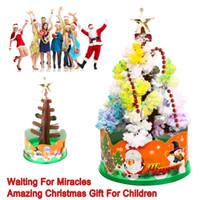 ingrosso carta magica-Magia Growing Paper Interactive Tree Magical Grow Trees Xmas Kids Toy Gift Albero di Natale Arbre Magique Decorazione natalizia