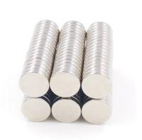 neodym-magneten loch 5mm großhandel-Hohe qualität 100 teile / los 12mm x1.5mm n35 starke scheibe runde seltene erde neodym-magneten kleine überzug nickel magneten