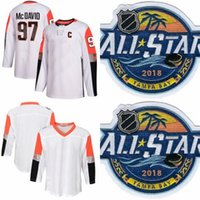 ingrosso divisione di hockey-2018 All-Star Game Hockey 97 Connor McDavid All Star maglia Pacific Division 88 Brent Burns Jonathan Quick William Karlsson Sean Monahan