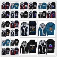 Wholesale mens cardigan styles - 33 Styles Super Warm Fortnite Hoodies Jackets Big Kids Student Mens Fortnite Printed Jackets Clothing Casual Zipper CCA10096 1pcs