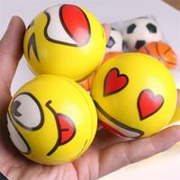 magische schaumkugeln großhandel-Bouncing Balls Geschenk Cartoon Ausdruck Gelb Cute Magic Foam Baumwolle Magic High Elastic Force Kind Kind Spielzeug Most Cheap 0 96kb V