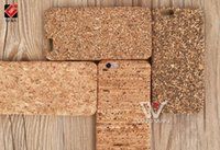 Wholesale Wood Cork Case - Mixed Model and Design for iPhone 5 5s 6 6s 6+ 6splus 7 8 7+ 8+ X Cork Slim Cork PC Wood Case