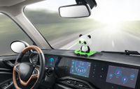 ingrosso ornamenti panda-Car Ornaments Dancing Bobble Head Panda Doll Automobiles Decoration Giocattoli Cute Auto Interior Solar Ballerino oscillante Accessori