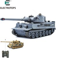 Wholesale germany toys - 40Mhz RC Tank 1 20 RTR Germany Tiger 103 Remote Control Fighting Battle Tank with Musical and Flashing for Child Gift 99807