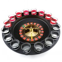 Wholesale Roulette Game - Simple Russian Spinning Roulette Safety Easy To Carry Wine Glass Game Kit For KTV Pub Drinking Roulette Set Top Quality 19 5gb B