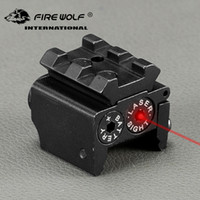 Wholesale high tactical mount resale online - FIRE WOLF nm m Mini High quality Tactical Red Dot Laser sight Scope x26mm DC V Dual Weaver Rail Mount Compact