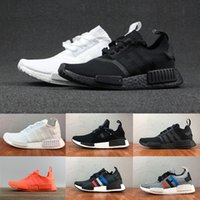 Wholesale Runners Toe - 2018 High quality New NMD Runner R1 Primeknit PK Tri-Color mastermind japan black white blue Men Women Running Shoes sports Shoes Sneakers