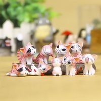 Wholesale Japanese Doll Sweet - New 10pcs Japanese Chi's Sweet Home Toy Cosplay Mini PVC Action Figure Cat Doll Toppers Bonecas 3cm Kids Toys