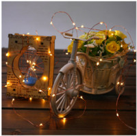 Wholesale Battery Flash - Copper string led battery box flash string lights waterproof copper wire lamp