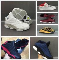 Wholesale Hologram Bands - 2018 air Retro 13 XIII basketball shoes men bred flints grey toe He Got Game hologram barons sport mens Sneakers training shoes US 8-13
