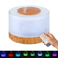 Wholesale impeller humidifier - Newest Design Remote Control Essential Oil Diffuser with 7 Colors LED Light Ultrasonic Cool Mist Aroma Humidifier 500ml