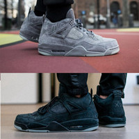 Wholesale Popular Culture - 2018 popular KAWS x Air Retro 4 4s XX Kaws Cool Grey White Men Basketball Sneakers retro 4s new fashon black outdoor shoes