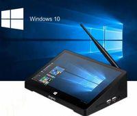 pc livre da tabuleta da polegada do transporte de dhl venda por atacado-DHL frete grátis OEM PC Windows 10 PROHOEM Andriod 5.1 CHAVES PC Intel Z8350 Quad Core 4G 64G 10,8 polegadas IPS Tablet PC Smart Media Player