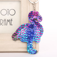 Wholesale tin bird for sale - Group buy Colorful Sequins Flamingo Keychain Charms Paillette Pendants Bird Keyring DIY Mermaid Keychain Jewelry Accessories