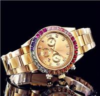 ingrosso strass per i fiori-2018 orologi da donna squadrati fiore Full diamond gold watch con strass donna swiss designer orologi da polso automatici orologio da polso