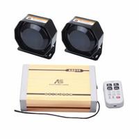 ingrosso casella di gioco mp3-AS 2X100W Car Siren 4-Piece Pack 20 toni con sirena Box 2 altoparlanti microfono a distanza wireless può riprodurre registrazioni MP3 su misura.