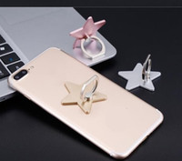 Wholesale free shopping rings for sale - hot Degree Star Shape Finger Ring Holder Phone Stand For universal phone with package free shopping