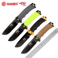 Wholesale ganzo fixed blade knives online - Firebird F803 Ganzo G803 HRC cr13mov blade ABS Handle Fixed blade knife Survival Hunting Knife tactical outdoor Camping tool