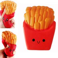 pommes frites telefon großhandel-Langsames steigendes Pommes-Frites Squishy-Kartoffel-Chip-Geruch-Nachahmungsspielzeug-Entspannungs-hübsches Telefon-Anhänger-freies Verschiffen SQU002