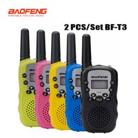 Wholesale Pc Walkie Talkie - 2 pcs set Baofeng BF-T3 Portable mini walkie talkie for kids gift radio 0.5W 22CH Two Way Radio Interphone Transceiver
