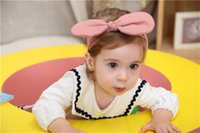 Wholesale Scarf Hair Wraps - Monochrome large ears with baby baby hair scarf wrapped head hair bow with children