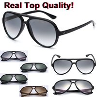 gafas de sol de aviación al por mayor-Mens aviation sunglasses retro classical sun glasses 5000 model acetate frame g15 lenses original packages cat design free shipping