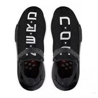 Wholesale u sports - Original Authentic NMD Trail Human Race HU Pharrell NERD Black White Running Shoes Men Sneakers Y O U N E R D Sports Shoes BB7603 With Box