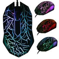 levou jogo óptico jogo mouse venda por atacado-3200 DPI LED Óptico 3 Botões 3D USB Com Fio Gaming Game Mouse Pro Gamer Ratos de Computador Para PC Ajustável USB Wired Gaming Mouse