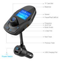 ingrosso interruttore lcd-Nulaxy Bluetooth Car Trasmettitore FM Lettore MP3 per auto Kit per auto wireless Modulatore FM W Porte USB Dual Power Off Interruttore Display LCD