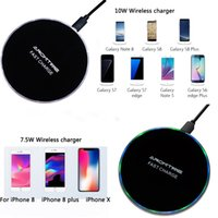ladegeräte großhandel-Neues drahtloses Ladegerät der drahtlosen 7.5W Metallschale drahtloses schnelles Ladegerät für iPhone 8 plus iphone X Samsung Galaxy S8 plus S7 drahtloses Ladegerät