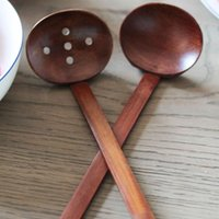 fast shipping New Wooden tableware Turtle soup spoon Japanese ramen wooden Long handle colander Hot pot spoon practical and durable